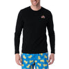 Air Walk Single Jersey Long Sleeve Tee Shirt For Men-Black-BE8927