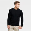 Air Walk Single Jersey Long Sleeve Tee Shirt For Men-Black-BE8159