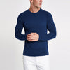Air Walk Single Jersey Shirt For Men-Blue Melange-BE81349