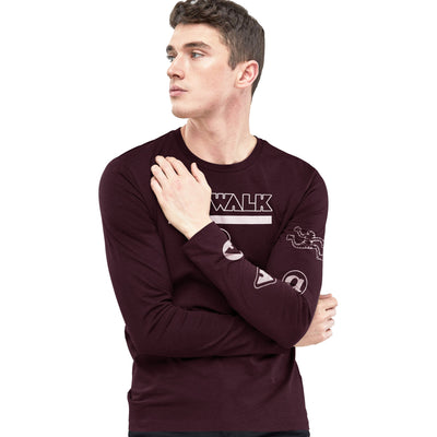 brandsego - Air Walk Single Jersey Long Sleeve Tee Shirt For Men-BE8146