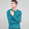 Air Walk Single Jersey Long Sleeve Tee Shirt For Men-Dark Sky-BE8158
