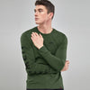 Air Walk Single Jersey Long Sleeve Tee Shirt For Men-Green-BE8171