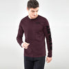 Air Walk Single Jersey Shirt For Men-Maroon Melange-BE8139