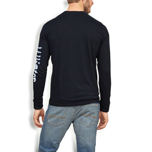 "Men's ""Hollister"" Long Sleeves Fashion Crew Neck -Navy (HS205)"