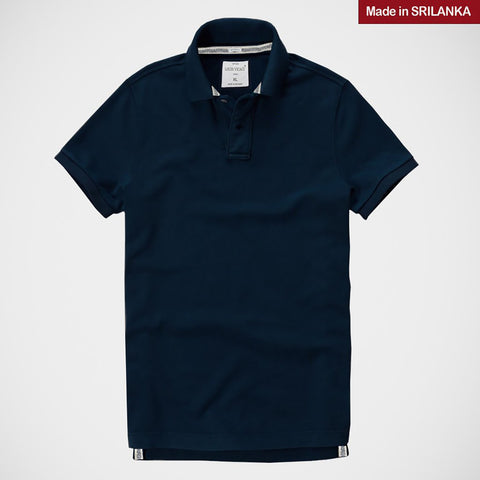 "Men's ""LOUIS VICACI"" Milano Muscle Fit Light Navy Polo- NLV01"