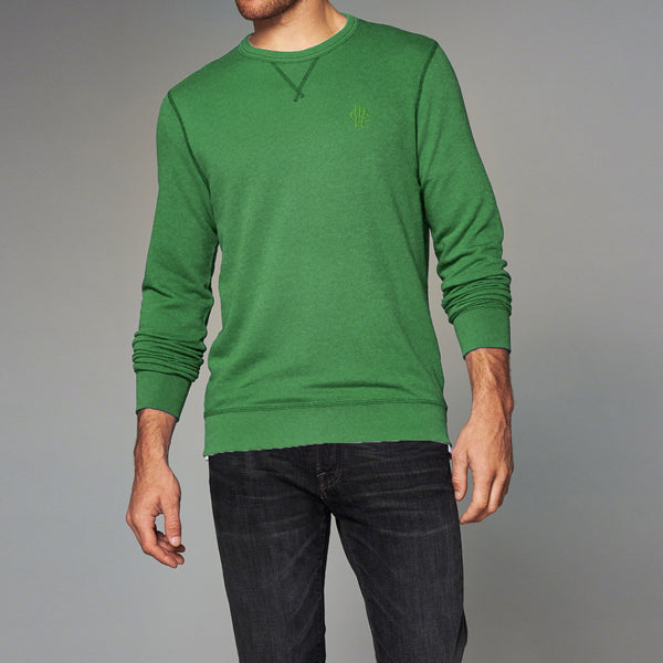 "Exclusive Men's ""Mark & Spancer"" Cut Label Terry Fleece Sweat Shirt -Green-(SS03)"