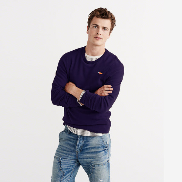 "Men's ""RTY"" Sweat Shirt-Purple-RTS04"