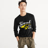brandsego - Sipral Direct Crew Neck Full Sleeve Tee Shirt For Men-Black-SDVT02