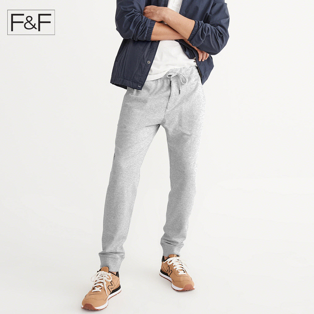 F&F Slim Fit Fleece Jogger Trouser For Men-Gray-NA15