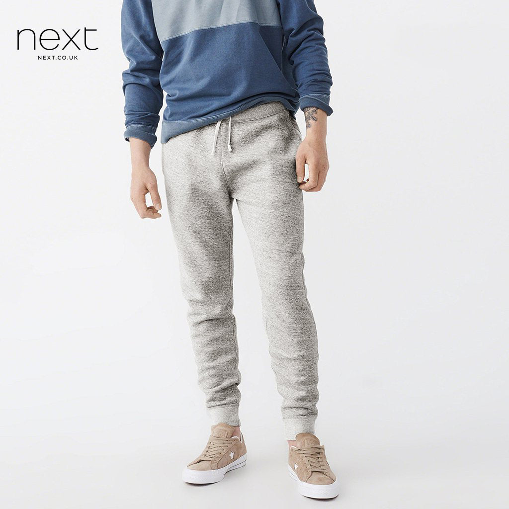 Next Slim Fit Fleece Jogger Trouser For Men-Off White Melange-NA22