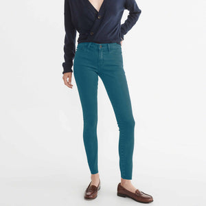 Mango Ladie's Skinny Fit Stretch Denim-Dark Cyan-MNG06