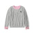 Ladies Blouse ARIS Full Sleeve Henley Gray & Pink -BE658