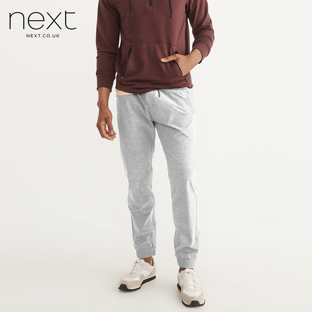 Next Slim Fit P.Q Terry Fleece Jogger Trouser For Men-Gray-NA17