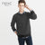 Next Crew Neck Raglan Sleeve Fleece Sweatshirt For Men-Black Melange-NA101