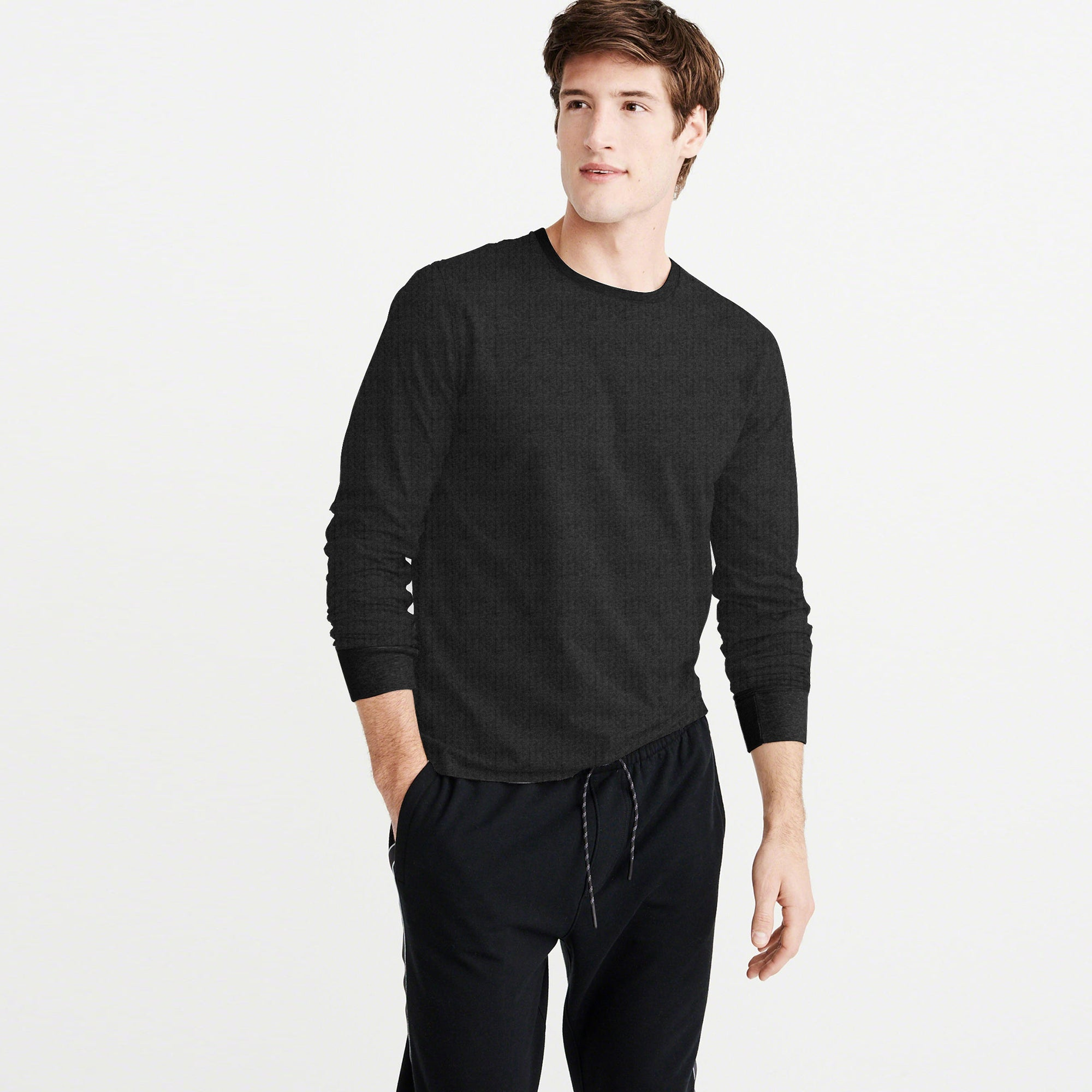 brandsego - USF Thermal Long Sleeve Tee Shirt For Men-Dark Charcoal-NA6069