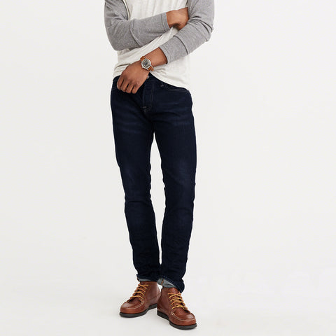 Just Chique Slim Fit Stretch Denim For Men - Faded Wash Navy - CH005