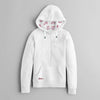 Fat Face Fleece Henley Hoodie For Women-White-NA6825