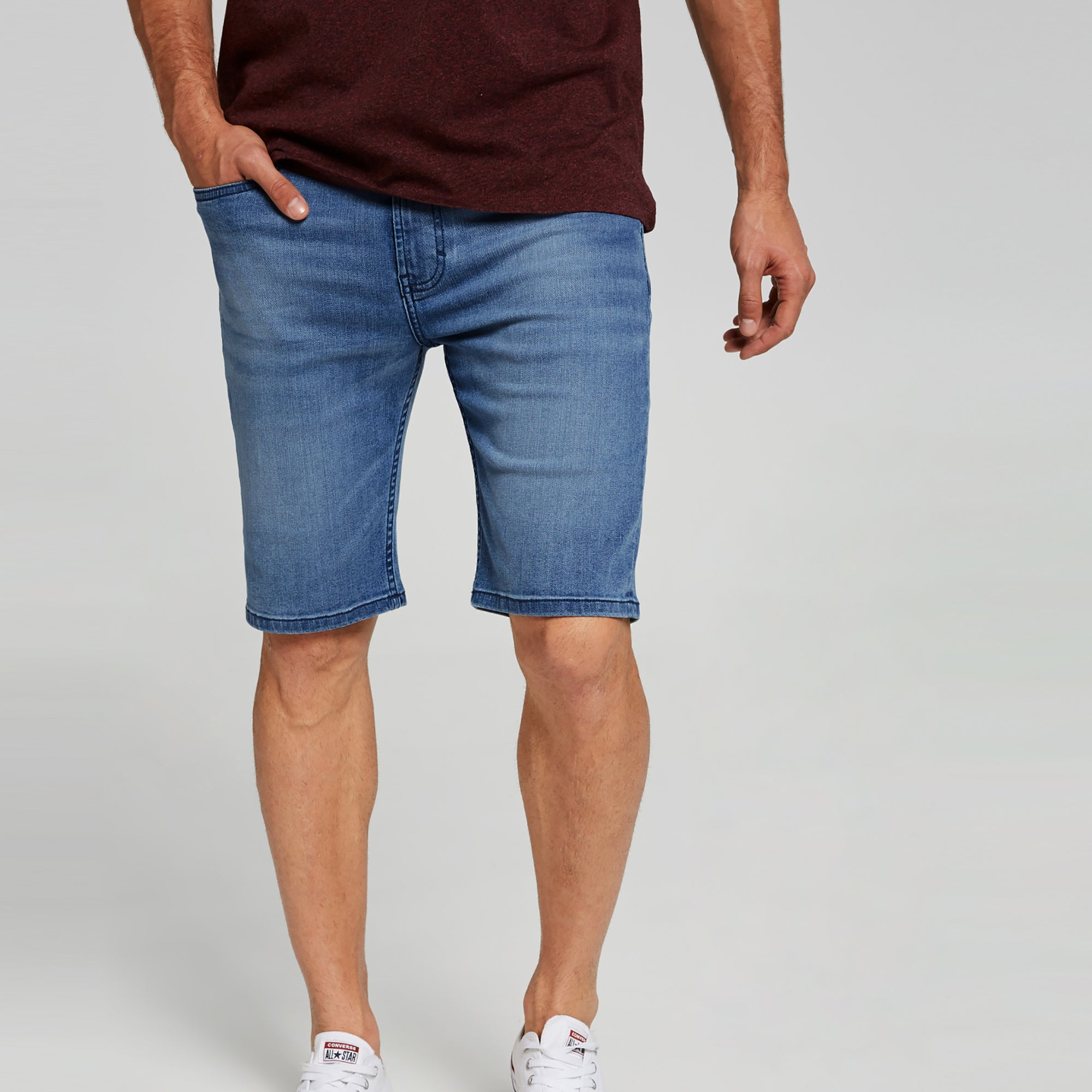 c8a260d260 B&Y Denim Short For Men- Light Navy Fadeed-SP064 - BrandsEgo