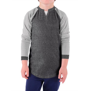 NEXT Single Jersey T Shirt For Boys-Charcoal & Light Grey Melange-BE4734