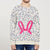 Baby Club Terry Fleece Sweatshirt For Kids-Off White with Allover Dotted Print-BE12817