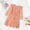 Baby Show Jersey with Net Lace Party Frock For Baby Girls-BE10781