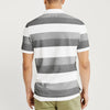 Banana Republic Short Sleeve P.Q Polo Shirt For Men-White & Grey Stripe-BE8451