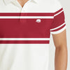 brandsego - Banana Republic Short Sleeve P.Q Polo Shirt For Men-White with Stripe-BE8359