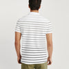 brandsego - Banana Republic Short Sleeve P.Q Polo Shirt For Men-White with Striped-BE8611