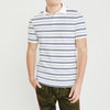 brandsego - Banana Republic Short Sleeve Single Jersey Polo Shirt For Men-White With Stripes-BE8289