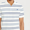 brandsego - Banana Republic Short Sleeve P.Q Polo Shirt For Men-White With Stripes-BE8290