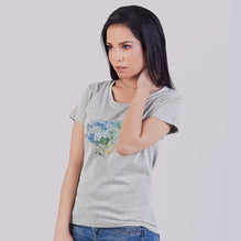 Coca Cola Blouse For Ladies-Gray Melange-BE2698