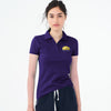 Basic Edition Half Sleeve P.Q Polo Shirt For Ladies-Dark Purple-BE8562