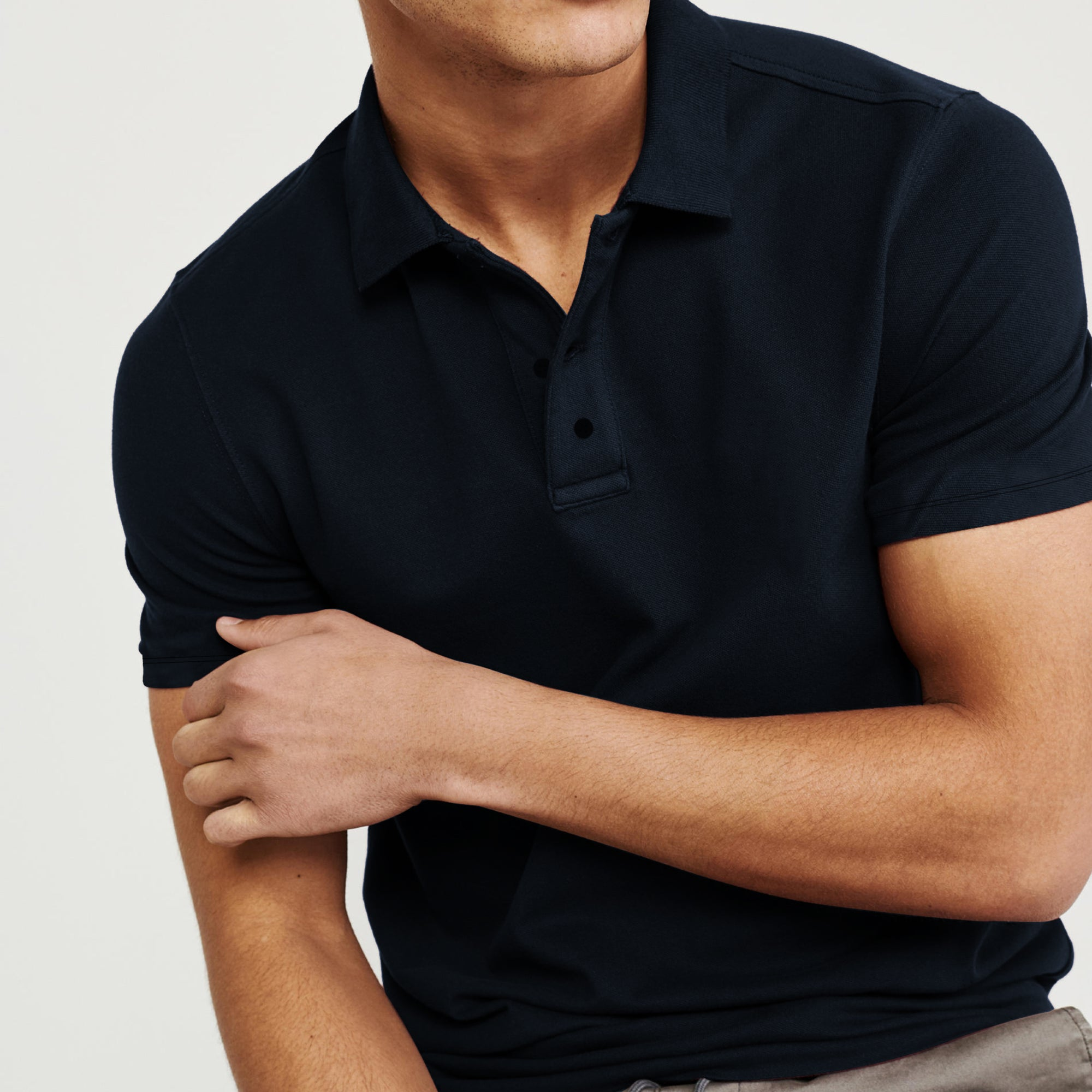 Basic Edition P.Q Short Sleeve Polo Shirt For Men-Dark Navy-BE8546