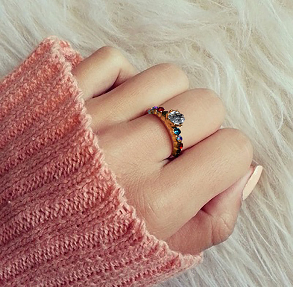 "Ladie's ""Stylish Ring""-BE366"