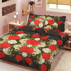 5D Oker's Island 100% Cotton Sutton Printed Double Bed Sheet & Pillow Set-NA6071