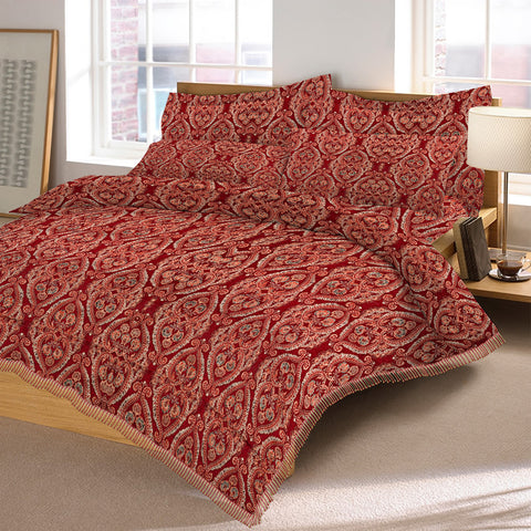 New Tilla Exclusive Jaquard Bed Sheets-TJBS10