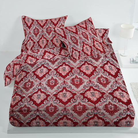 New Tilla Exclusive Jaquard Bed Sheets-TJBS09