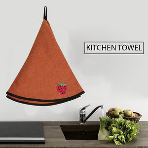 Beljia (25x25) Cotton Embroidered Kitchen Towel-Light Orange-BE5338