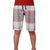 Bershka Falalen Cotton Short For Boys-Off White & Red Check-BE5097