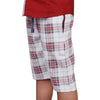 Bershka Cotton Short For Boys-White & Red Check-BE5096