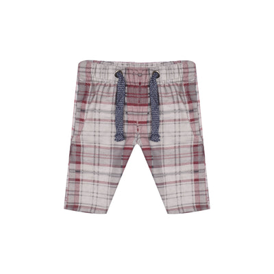 Bershka Falalen Cotton Short For Boys-Maroon & Off White Check-BE5141