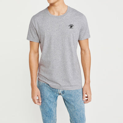 brandsego - Beverly Hills Crew Neck Half Sleeve Tee Shirt For Men-Grey Melange-BE8221