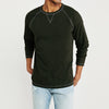 Beverly Hills Polo Club Raglan Sleeve Single Jersey Shirt For Men-Dark Olive With Melange-BE8138