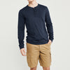 Beverly Hills Polo Club Single Jersey Henley Shirt For Men-Navy Melange-BE8152
