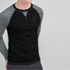 Beverly Hills Polo Club Single Jersey Shirt For Men-Black & Charcoal Melange-BE8160