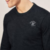 Beverly Hills Single Jersey Long Sleeve Tee Shirt For Men-Black Melange-BE8142