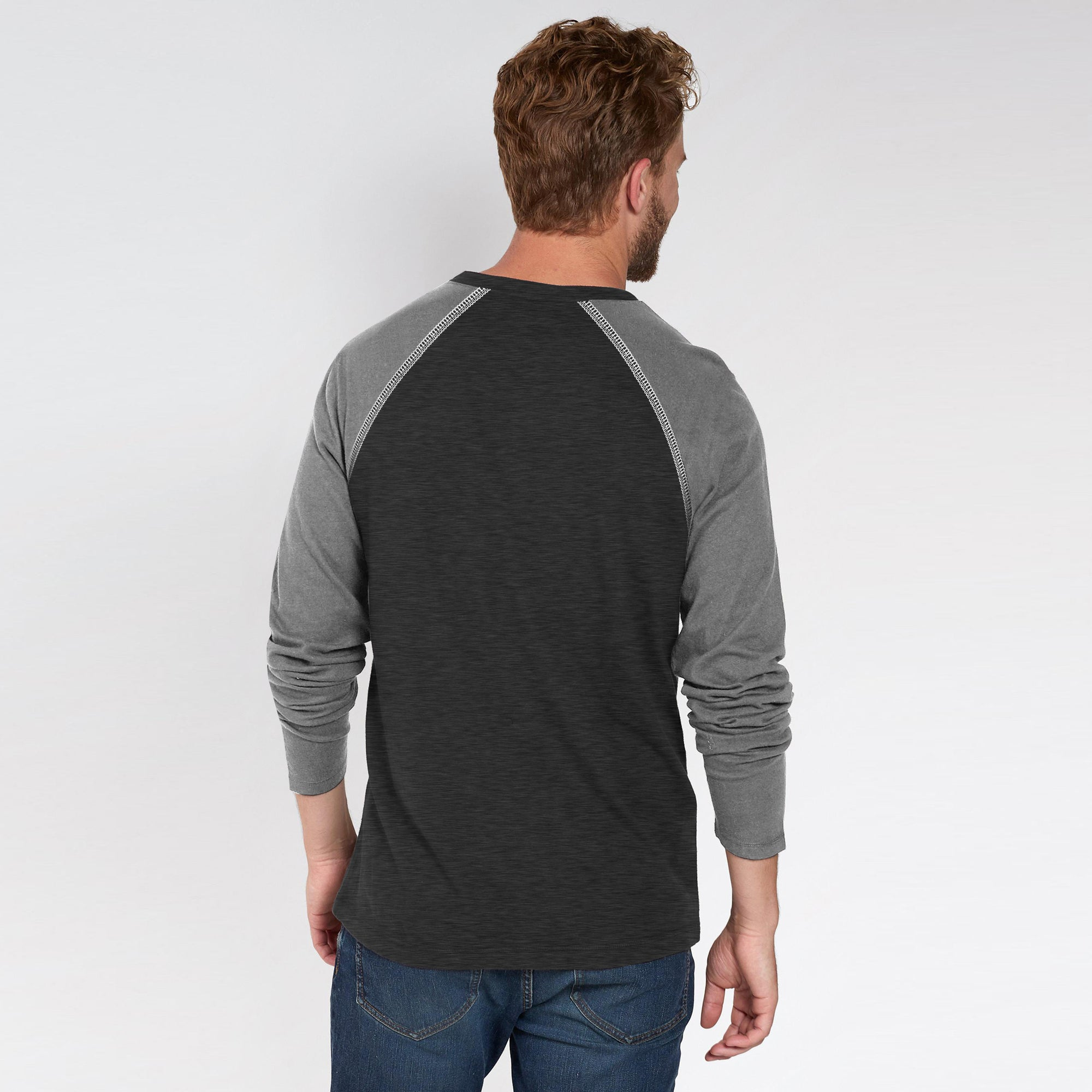 9a13f031fd70 Beverly Hills Single Jersey Long Sleeve Henley Tee Shirt For Men-BE8175