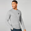 Beverly Hills Single Jersey Long Sleeve Tee Shirt For Men-Grey Melange-BE8150