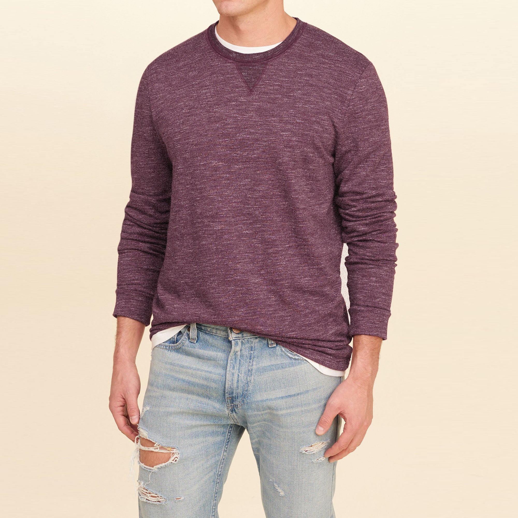 7c9f366f Beverly Hills Single Jersey Long Sleeve Tee Shirt For Men-BE8135 ...