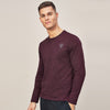 Beverly Hills Polo Club Single Jersey Shirt For Men-Maroon Melange-BE8141